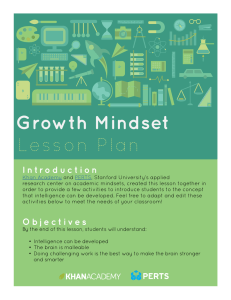 Growth Mindset Lesson Plan
