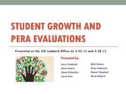 Student Growth and PERA Evaluations