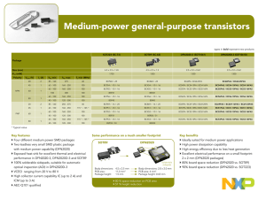 Medium-power general-purpose transistors