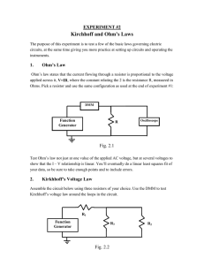 Kirchhoff and Ohm`s Laws
