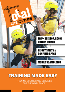 training made easy - Total Site Supplies