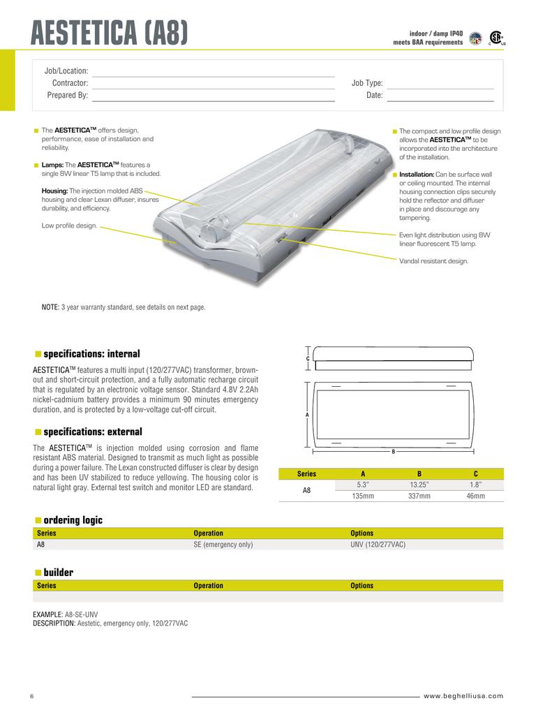 Cut Sheet Architectural Lighting Alliance
