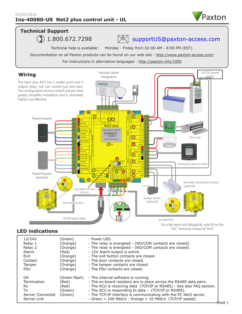 Ins 40080 Us Tamper Wiring Diagram For