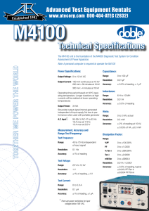 Technical Specifications - Advanced Test Equipment Rentals