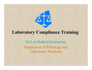 Laboratory Compliance Training - Office of Compliance Services