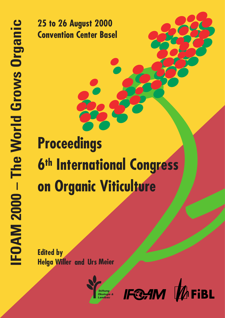 Proceedings 6th International Congress on Organic Viticulture