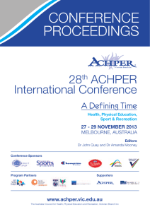 28th ACHPER International Conference Proceedings