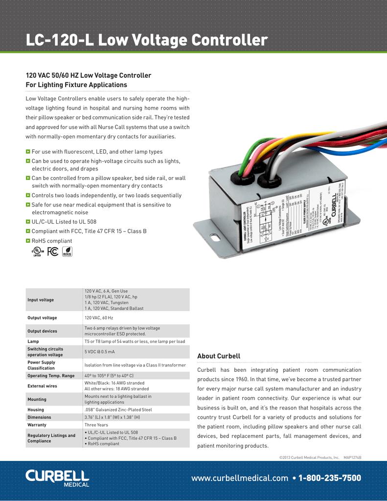 018604633_1 0e16f2d7ecd28faacf2cbf47589771df lc 120 l low voltage controller curbell medical products, inc