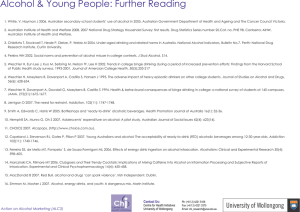 Further Reading - University of Wollongong