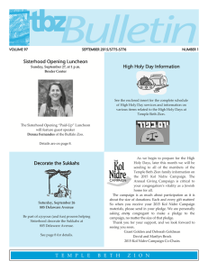 September - Temple Beth Zion