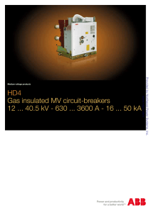 HD4 Gas insulated MV circuit-breakers 12 40.5 kV