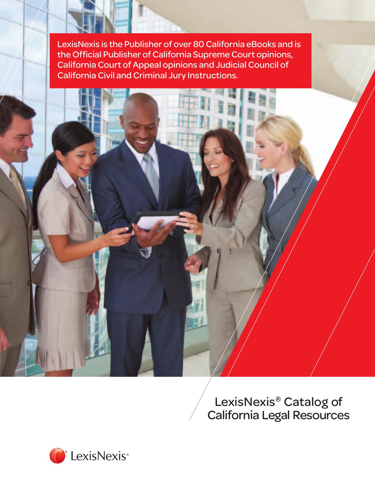 Lexisnexis Catalog Of California Legal Resources