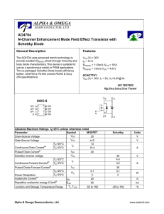 AO4704 N-Channel Enhancement Mode Field Effect Transistor with