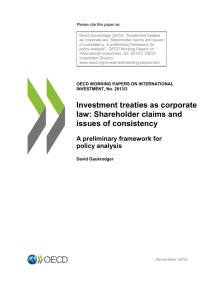 Investment treaties as corporate law: Shareholder claims