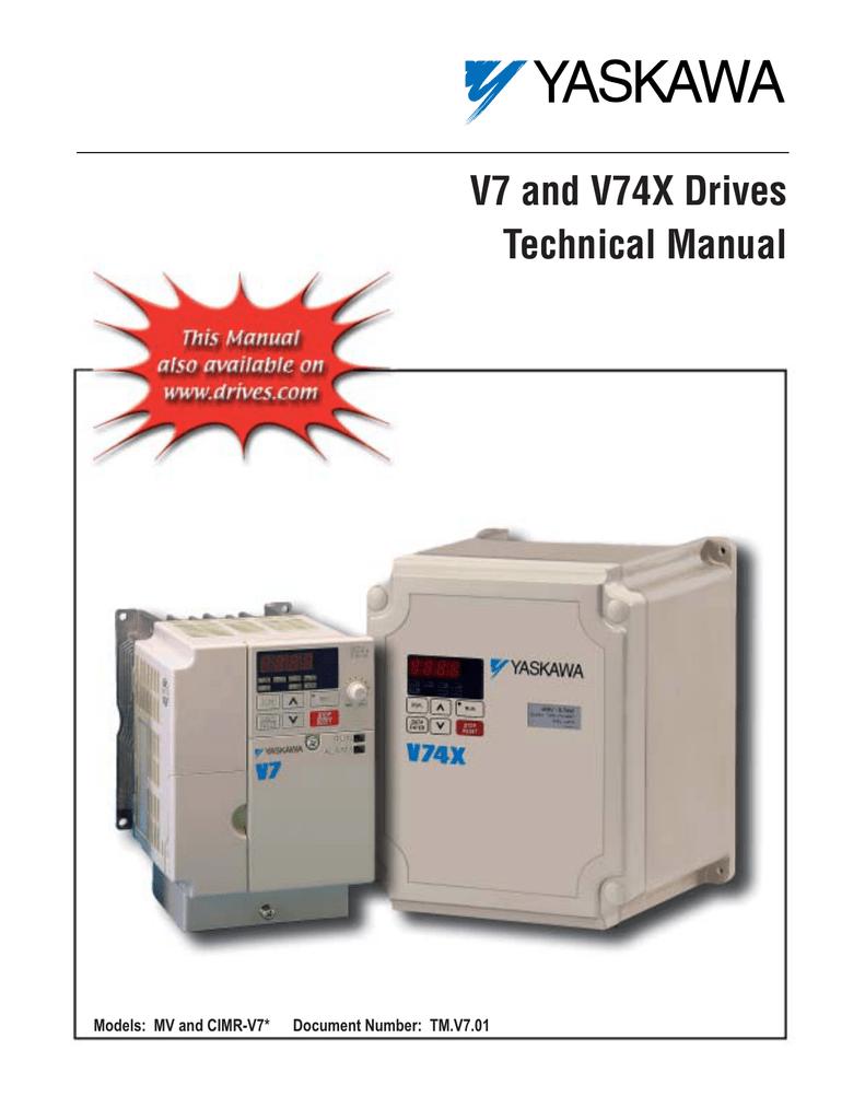 V74x Yaskawa User Manual on