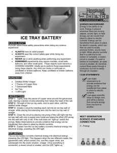 ice tray battery - Hooked on Science