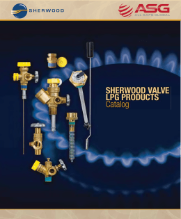 SHERWOOD VALVE LPG PRODUCTS Catalog