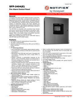 SFP And SFP And SFP And SFP - Notifier sfp 2404 wiring diagram