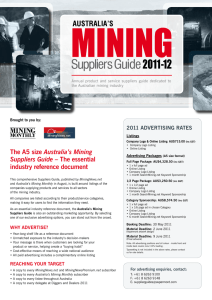 The A5 size Australia`s Mining Suppliers Guide