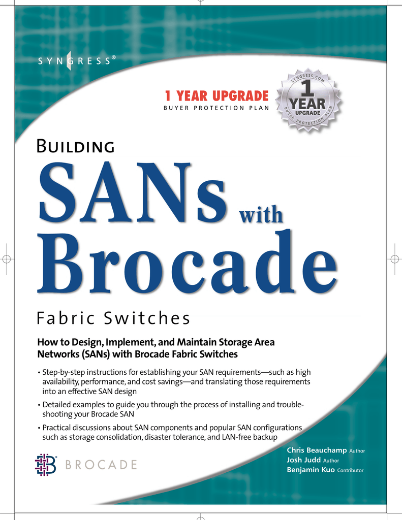 SANs) with Brocade Fabric Switches