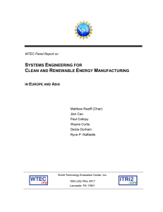 Final Report  - World Technology Evaluation Center