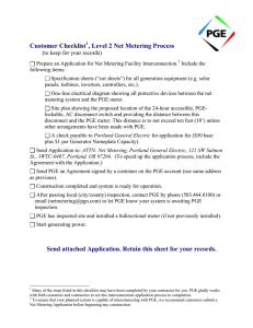 Level 2 application - Portland General Electric