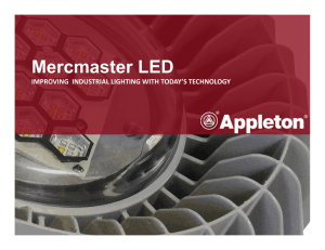 Mercmaster LED - Explosion Proof Electrical Equipment for