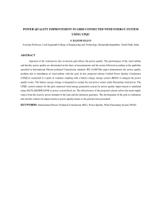 POWER QUALITY IMPROVEMENT IN GRID CONNECTED WIND
