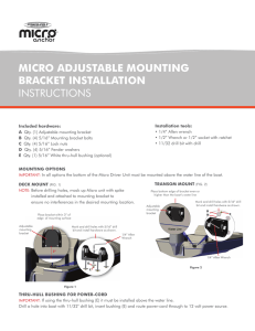 MICRO adjustable mounting bracket installation instructions