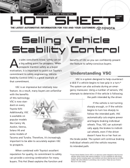 UNIVERSITY OF TOYOTA HOT SHEET