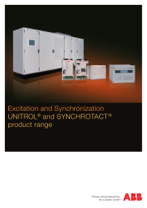 Excitation and Synchronization UNITROL® and SYNCHROTACT