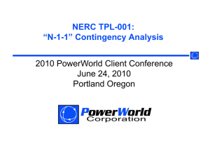 "NERC TPL-001: C 00 ""N-1-1"" Contingency Analysis 2010"