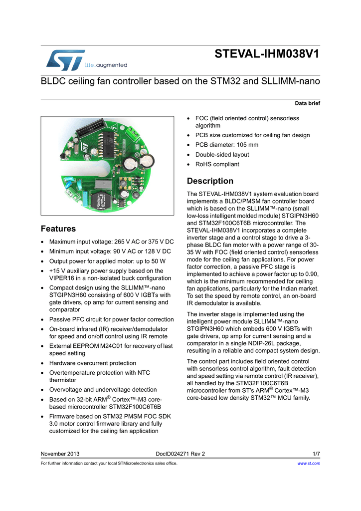 Databrief - STMicroelectronics