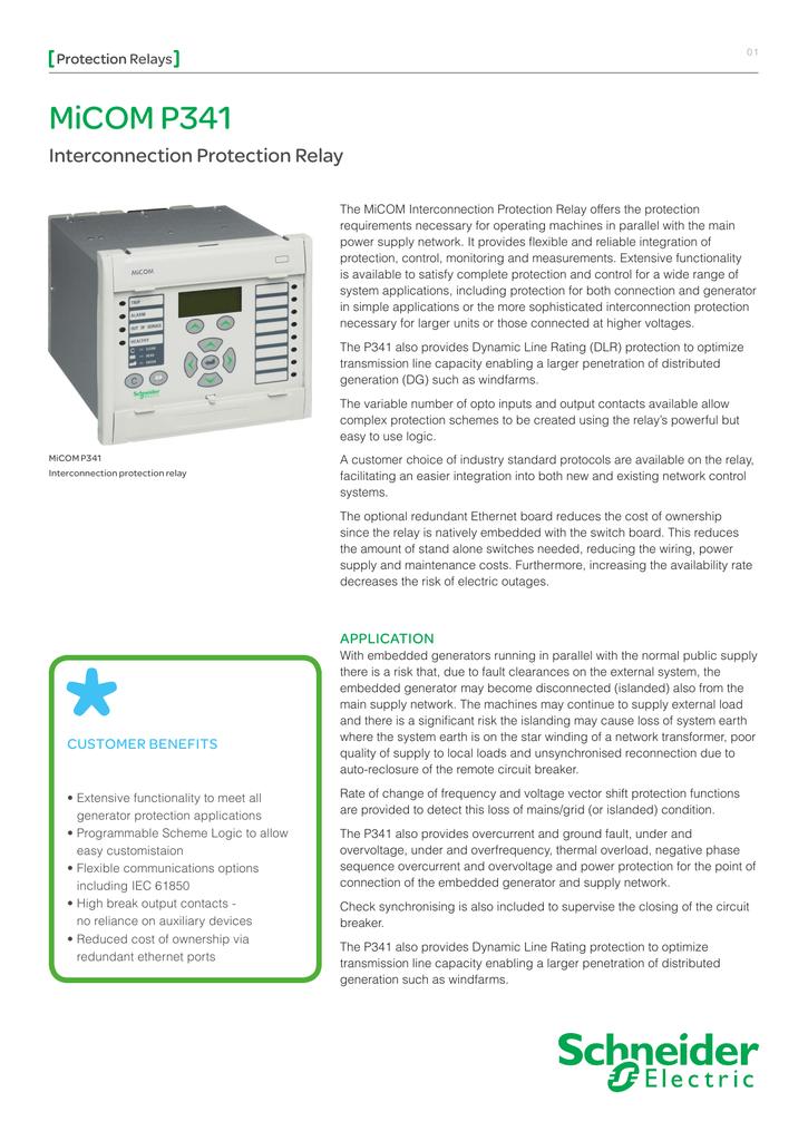 micom P341 - Schneider Electric