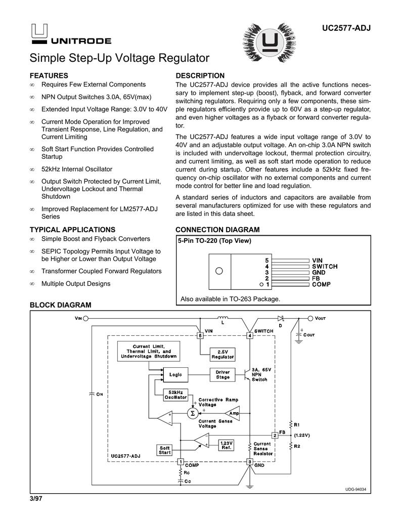 Uc2577 Adj 5v 4a Step Down Regulator Circuit In Forward Converter Topology