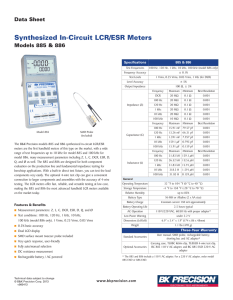 885_886 Synthesized In-Circuit LCR/ESR Meters