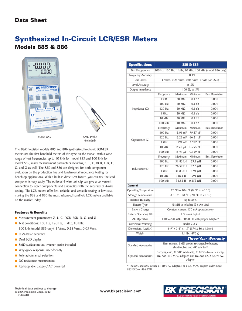 885_886 synthesized in circuit lcr esr meters