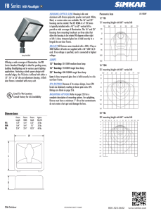 FB Series HID Floodlight Dimensions