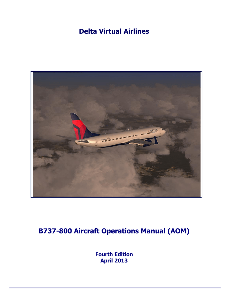 Boeing 737-800 Operating Manual