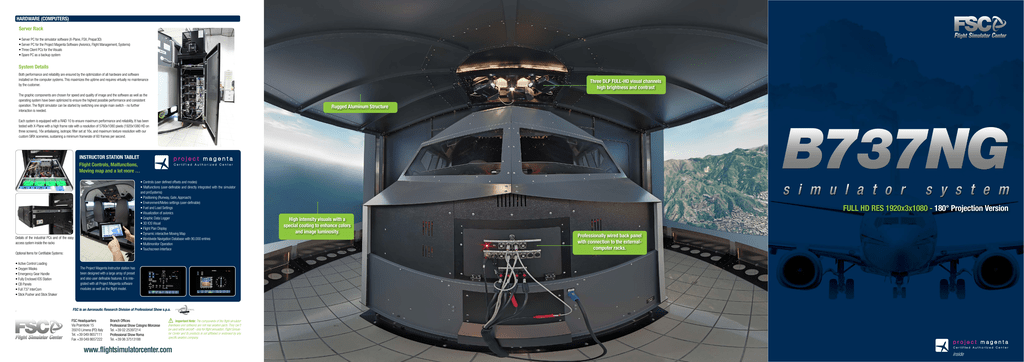 Depliant - FSC - Flight Simulator Center