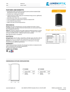 CLS® Cylinder Single Light Surface Mount Spec Sheet