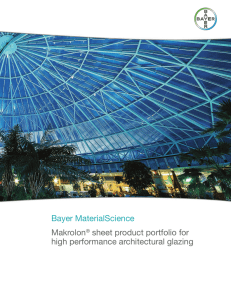 Sheet Product Portfolio For High Performance architectural