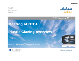 Meeting at OICA Plastic Glazing overview