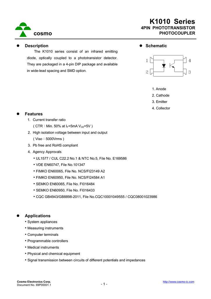 Cosmo 1010 datasheet circuit.