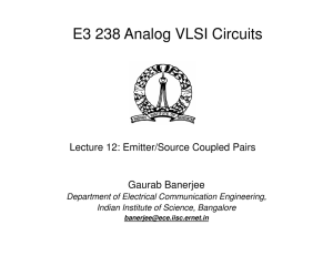 Emitter/Source coupled pairs - Department of Electrical