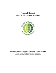 Annual Report - Richard G. Lugar Center for Renewable Energy