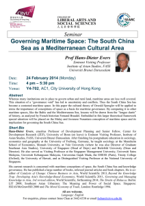 Seminar Governing Maritime Space: The South China Sea as a