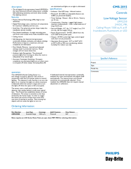 Controls Low Voltage Sensor CMS-2015