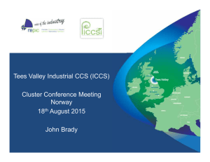 Tees Valley Industrial CCS (ICCS) Cluster Conference