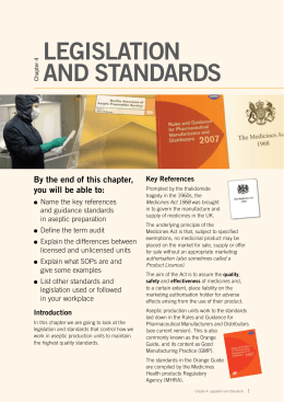 LegisLation and standards